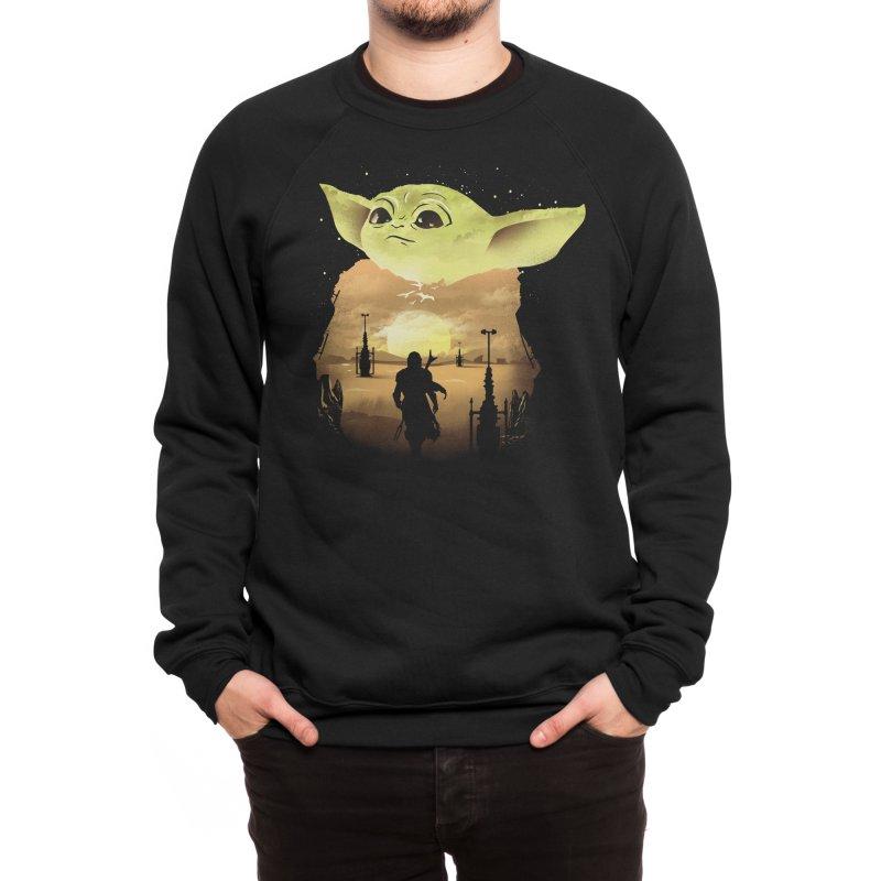 Baby Yoda Sunset Men's Sweatshirt by dandingeroz's Artist Shop