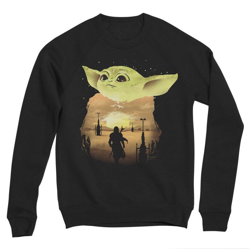 Baby Yoda Sunset Men's Sponge Fleece Sweatshirt by dandingeroz's Artist Shop