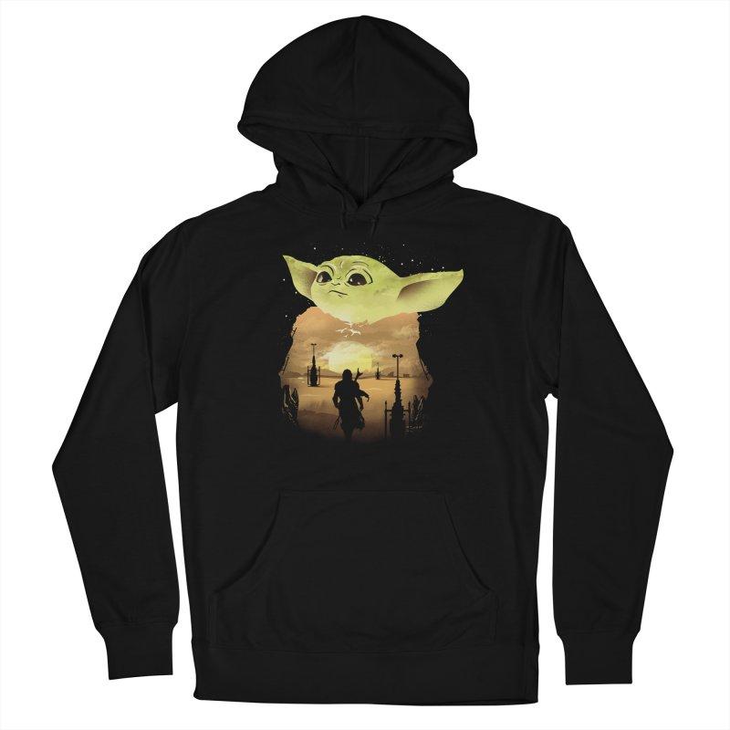 Baby Yoda Sunset Men's Pullover Hoody by dandingeroz's Artist Shop