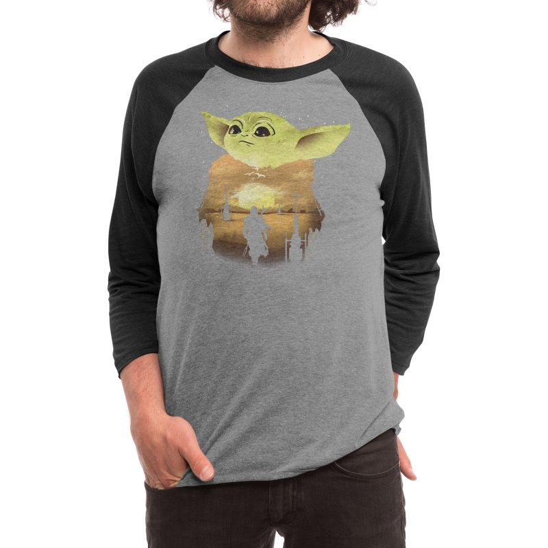 Baby Yoda Sunset Men's Longsleeve T-Shirt by dandingeroz's Artist Shop
