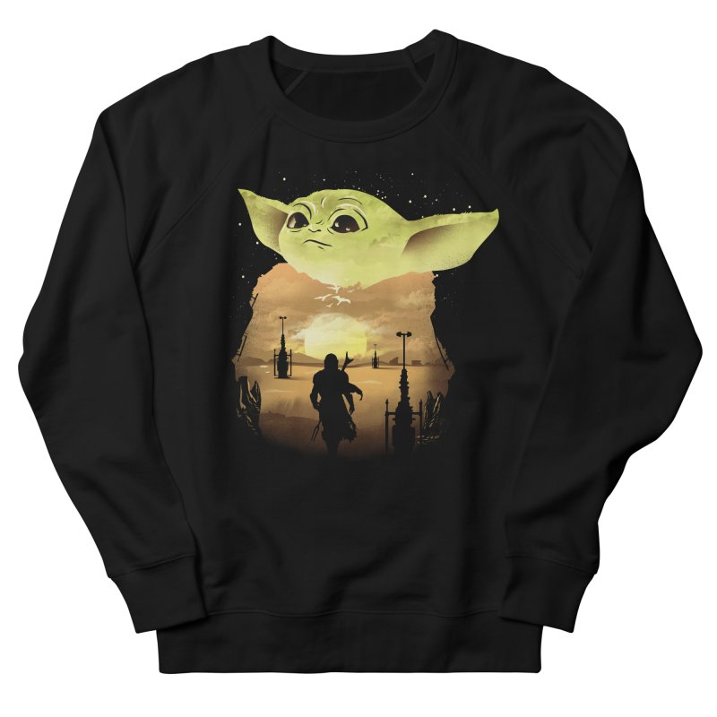 Baby Yoda Sunset Women's French Terry Sweatshirt by dandingeroz's Artist Shop