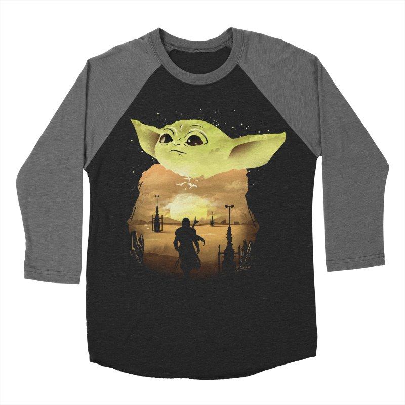 Baby Yoda Sunset Women's Baseball Triblend Longsleeve T-Shirt by dandingeroz's Artist Shop