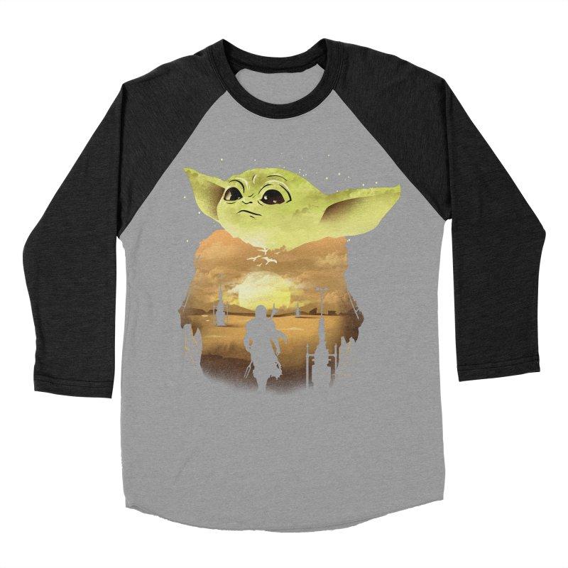 Baby Yoda Sunset Men's Baseball Triblend Longsleeve T-Shirt by dandingeroz's Artist Shop