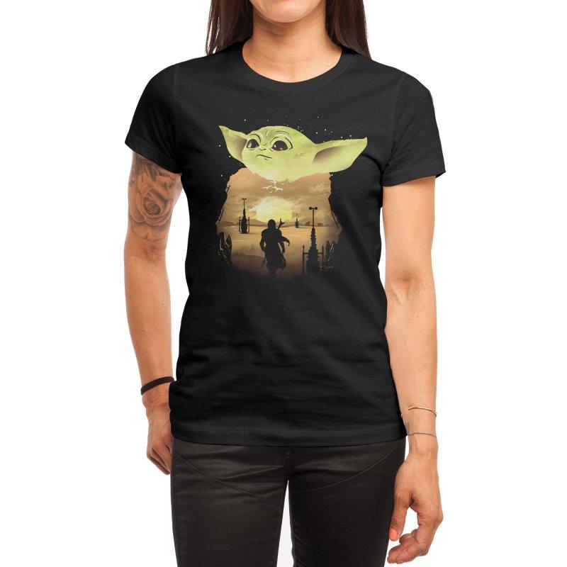 Baby Yoda Sunset Women's T-Shirt by dandingeroz's Artist Shop