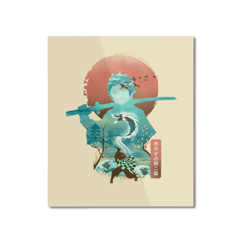 Ukiyo e Breath of Water Home Mounted Aluminum Print by dandingeroz's Artist Shop