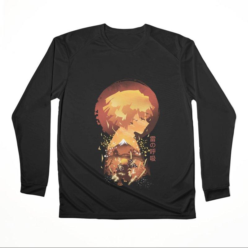 Ukiyo e Breath of Thunder Men's Performance Longsleeve T-Shirt by dandingeroz's Artist Shop