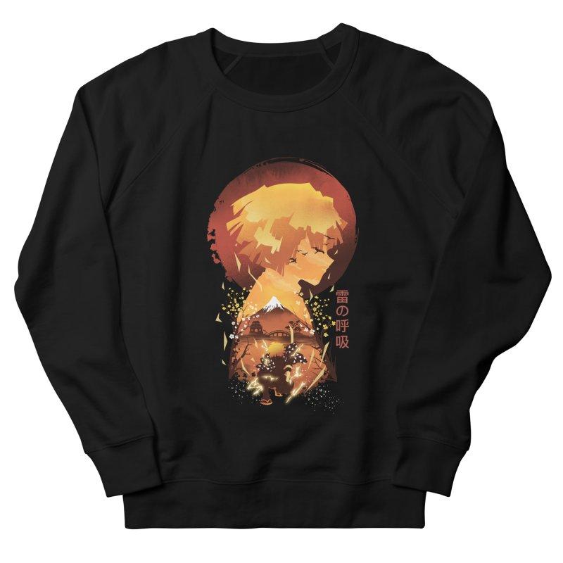 Ukiyo e Breath of Thunder Women's French Terry Sweatshirt by dandingeroz's Artist Shop