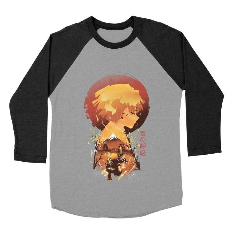 Ukiyo e Breath of Thunder Women's Baseball Triblend Longsleeve T-Shirt by dandingeroz's Artist Shop