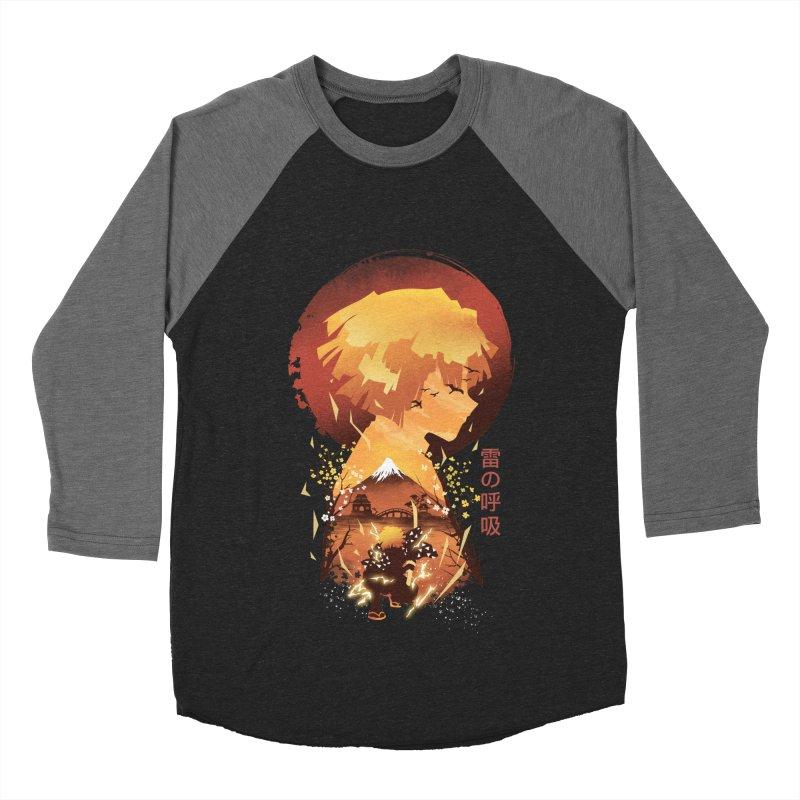 Ukiyo e Breath of Thunder Men's Baseball Triblend Longsleeve T-Shirt by dandingeroz's Artist Shop
