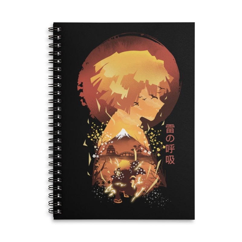 Ukiyo e Breath of Thunder Accessories Lined Spiral Notebook by dandingeroz's Artist Shop