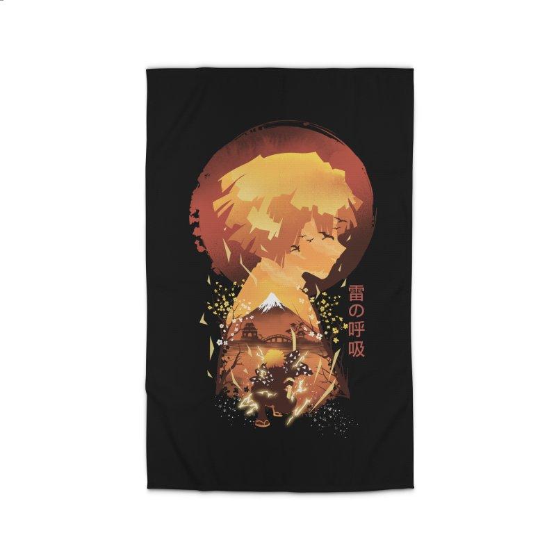 Ukiyo e Breath of Thunder Home Rug by dandingeroz's Artist Shop