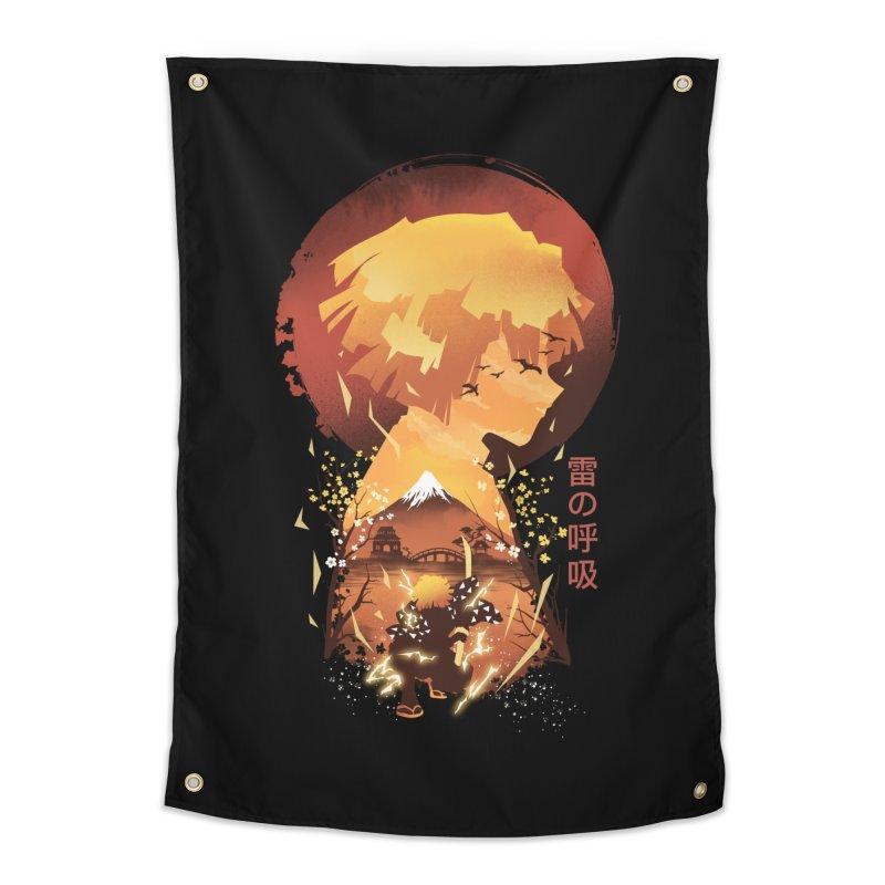 Ukiyo e Breath of Thunder Home Tapestry by dandingeroz's Artist Shop