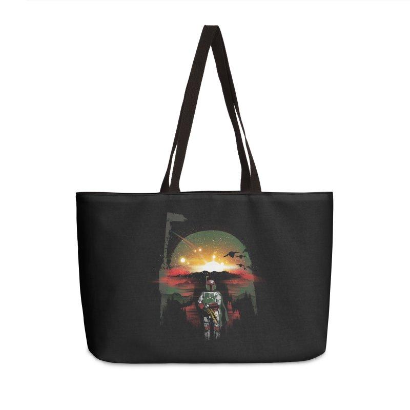 Bounty Hunter Accessories Weekender Bag Bag by dandingeroz's Artist Shop