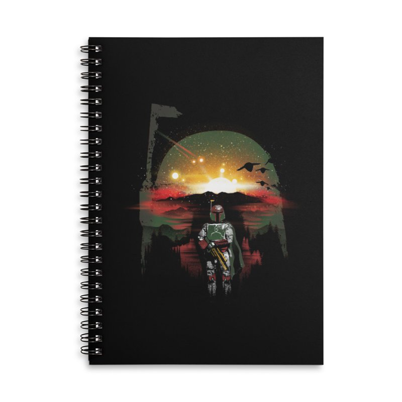 Bounty Hunter Accessories Lined Spiral Notebook by dandingeroz's Artist Shop