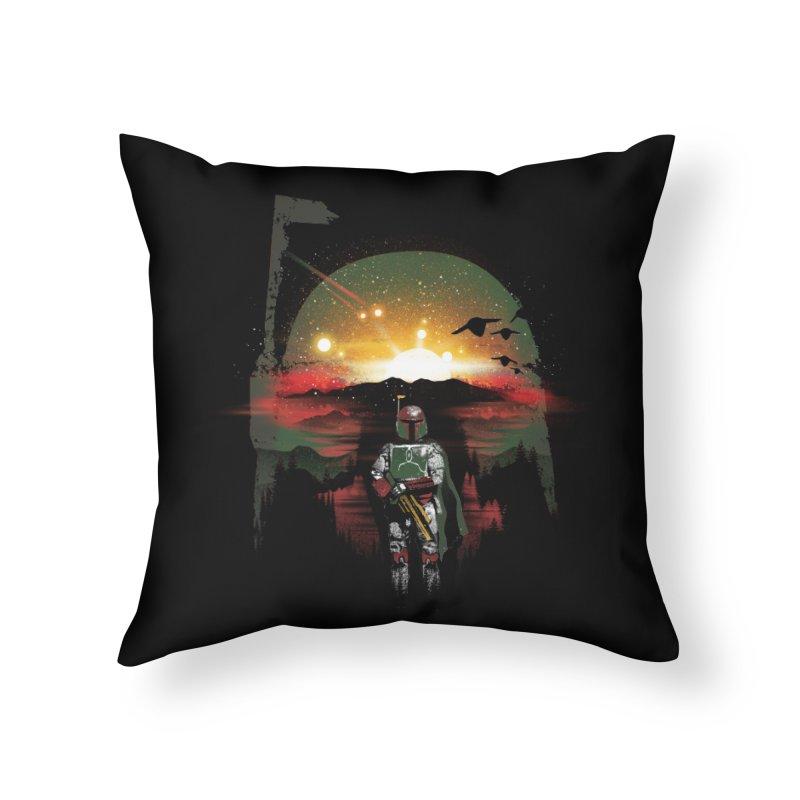 Bounty Hunter Home Throw Pillow by dandingeroz's Artist Shop