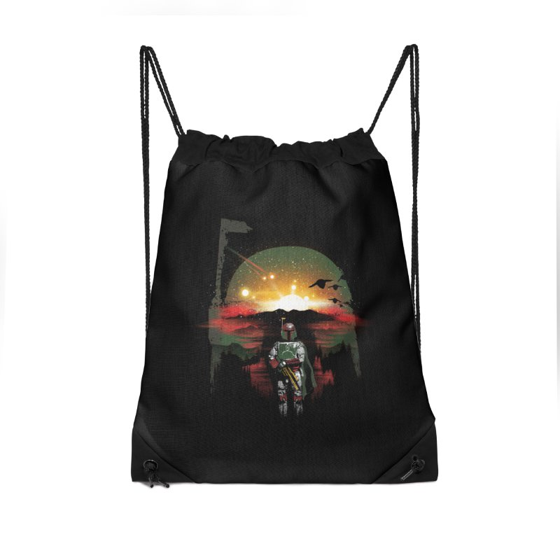 Bounty Hunter Accessories Drawstring Bag Bag by dandingeroz's Artist Shop