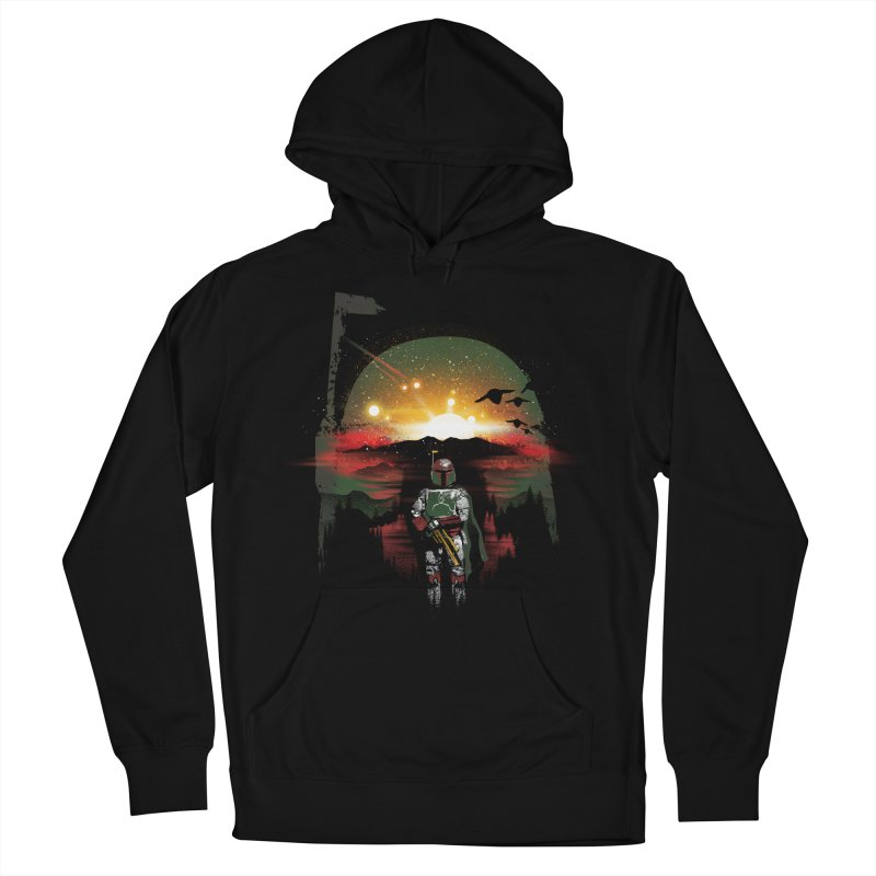 Bounty Hunter Women's French Terry Pullover Hoody by dandingeroz's Artist Shop