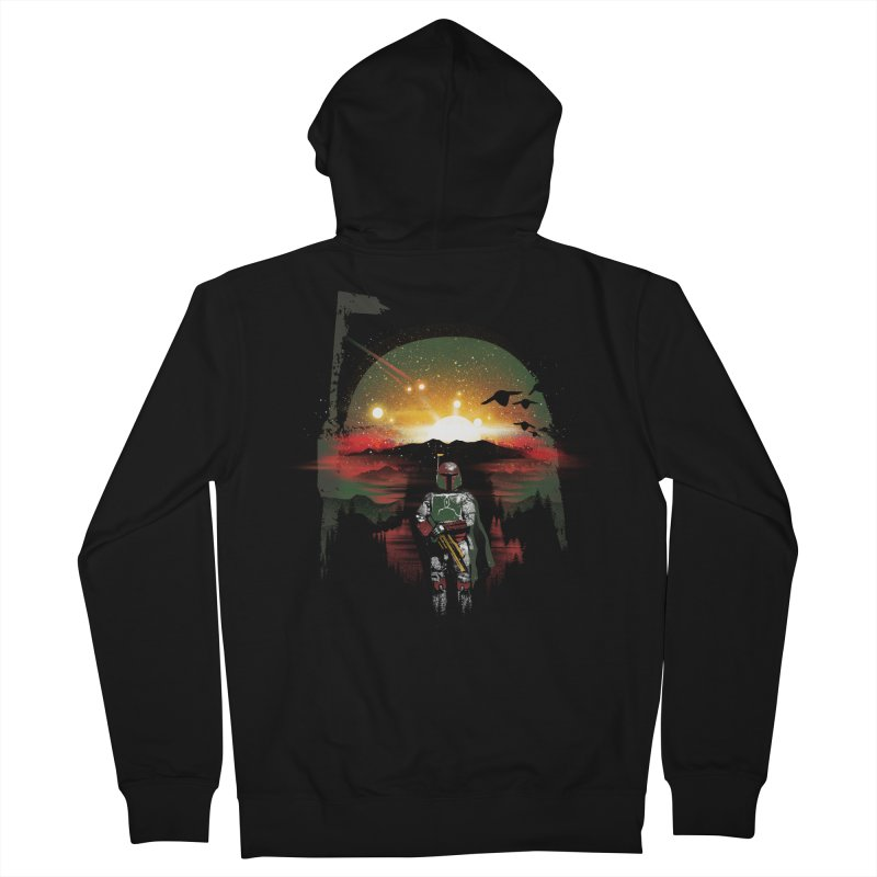 Bounty Hunter Men's French Terry Zip-Up Hoody by dandingeroz's Artist Shop