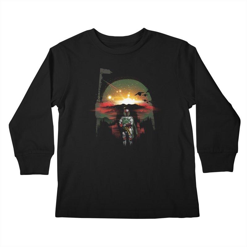 Bounty Hunter Kids Longsleeve T-Shirt by dandingeroz's Artist Shop