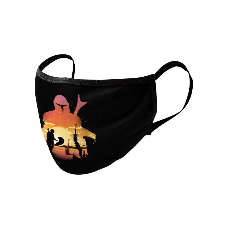 Mando Sunset Accessories Face Mask by dandingeroz's Artist Shop