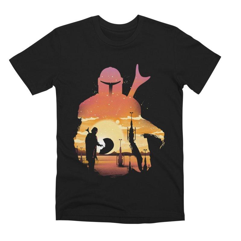 Mando Sunset Men's Premium T-Shirt by dandingeroz's Artist Shop