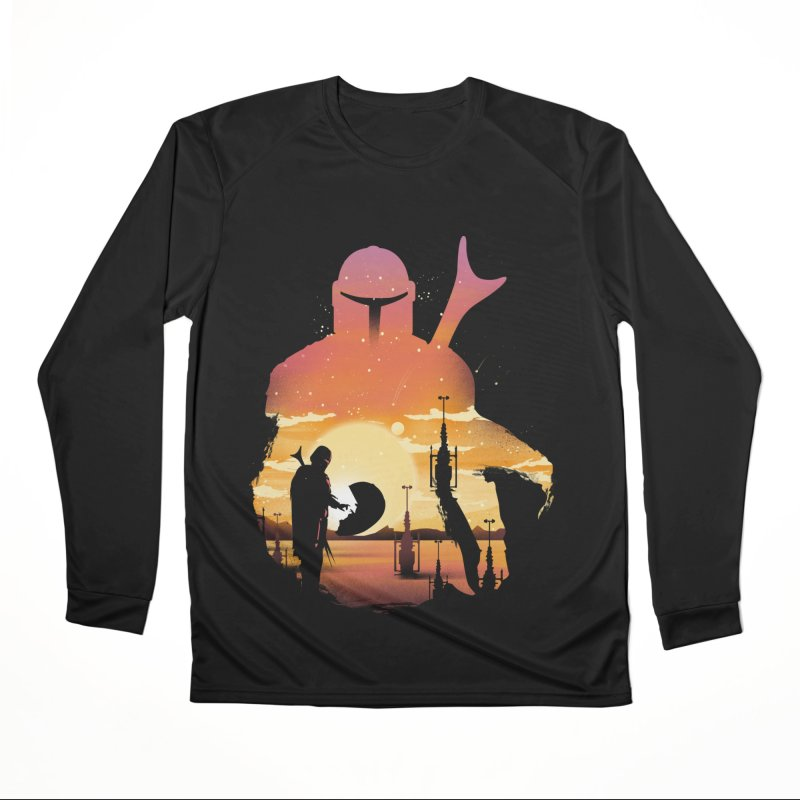 Mando Sunset Men's Performance Longsleeve T-Shirt by dandingeroz's Artist Shop