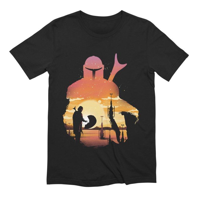 Mando Sunset Men's Extra Soft T-Shirt by dandingeroz's Artist Shop