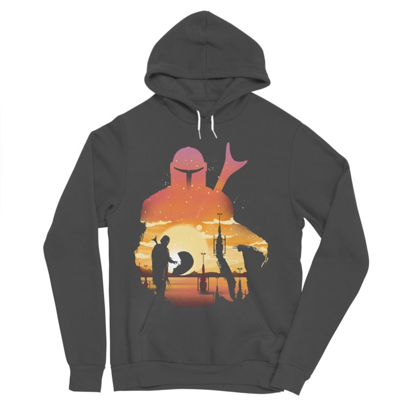 Mando Sunset Women's Sponge Fleece Pullover Hoody by dandingeroz's Artist Shop