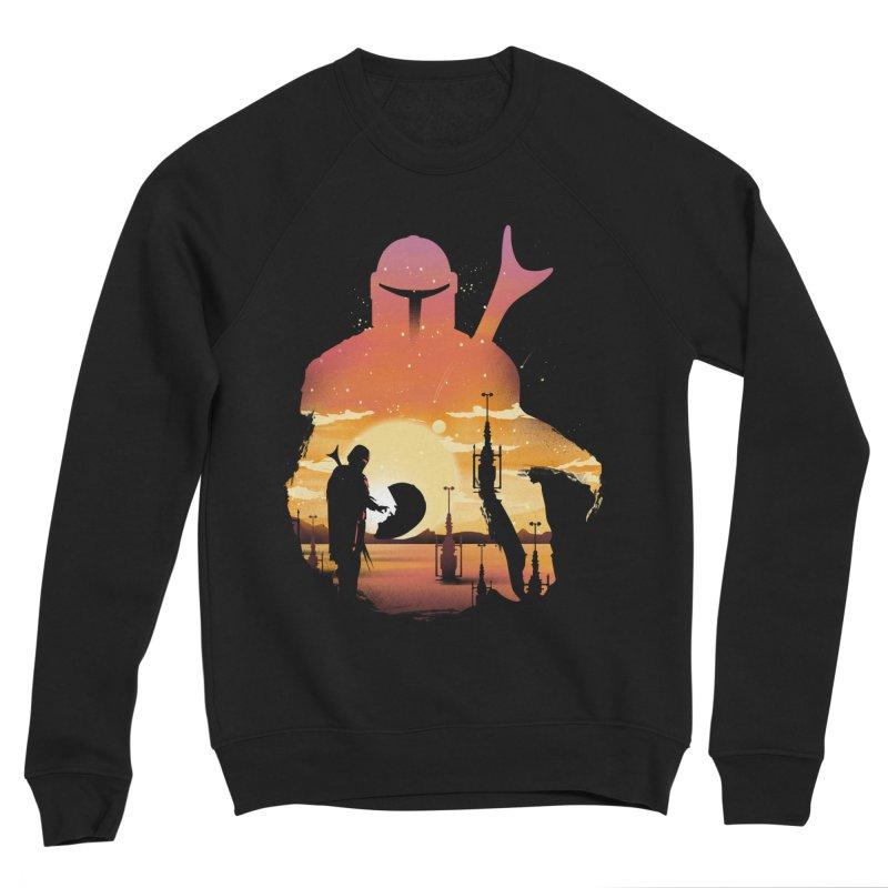 Mando Sunset Men's Sponge Fleece Sweatshirt by dandingeroz's Artist Shop
