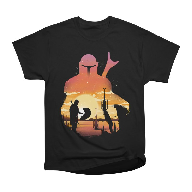 Mando Sunset Women's Heavyweight Unisex T-Shirt by dandingeroz's Artist Shop