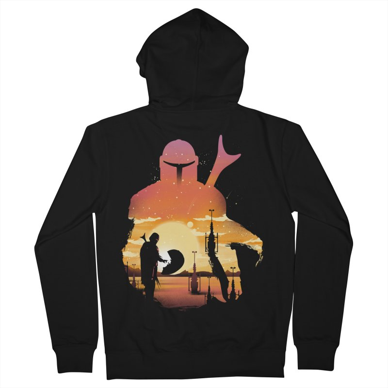 Mando Sunset Men's French Terry Zip-Up Hoody by dandingeroz's Artist Shop