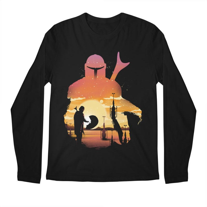 Mando Sunset Men's Regular Longsleeve T-Shirt by dandingeroz's Artist Shop