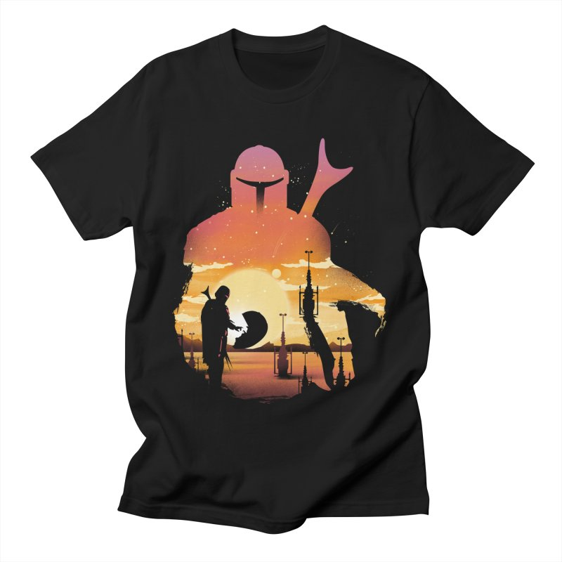 Mando Sunset Men's T-Shirt by dandingeroz's Artist Shop