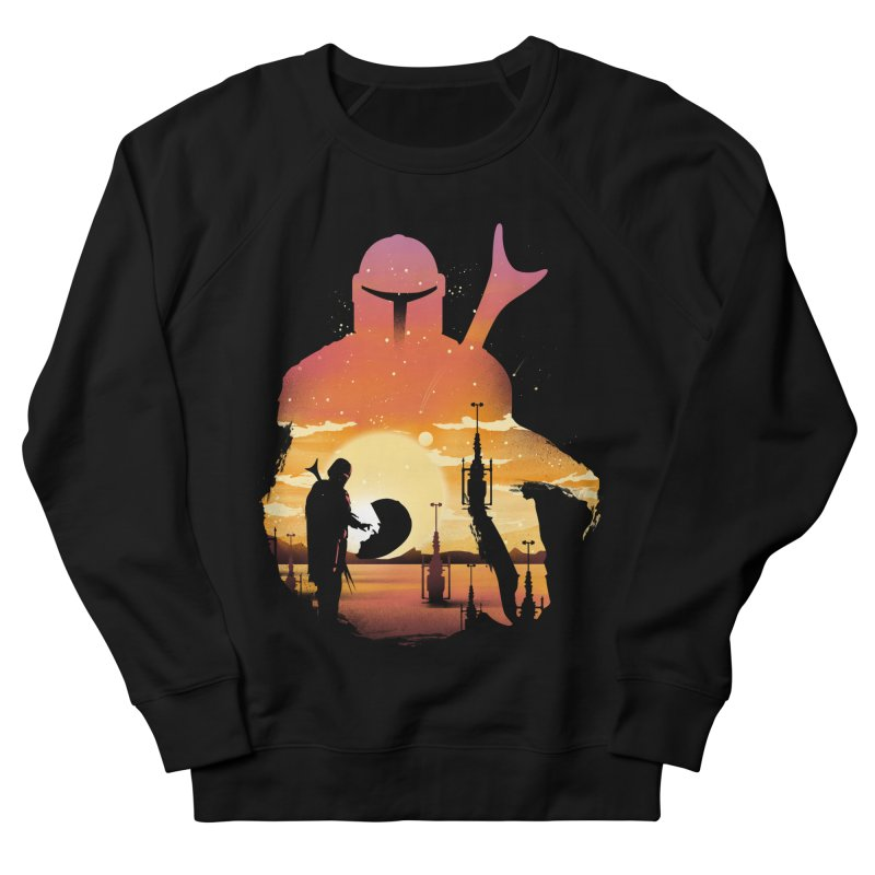 Mando Sunset Women's French Terry Sweatshirt by dandingeroz's Artist Shop