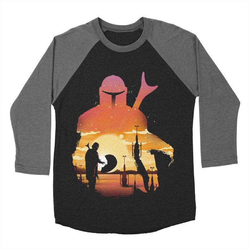 Mando Sunset Men's Baseball Triblend Longsleeve T-Shirt by dandingeroz's Artist Shop