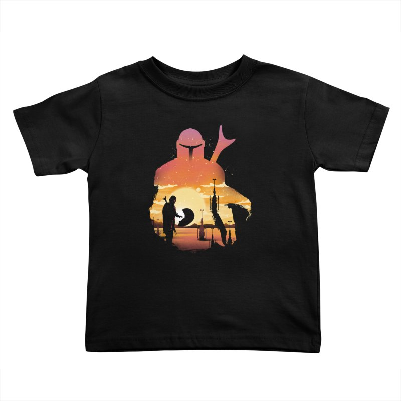 Mando Sunset Kids Toddler T-Shirt by dandingeroz's Artist Shop