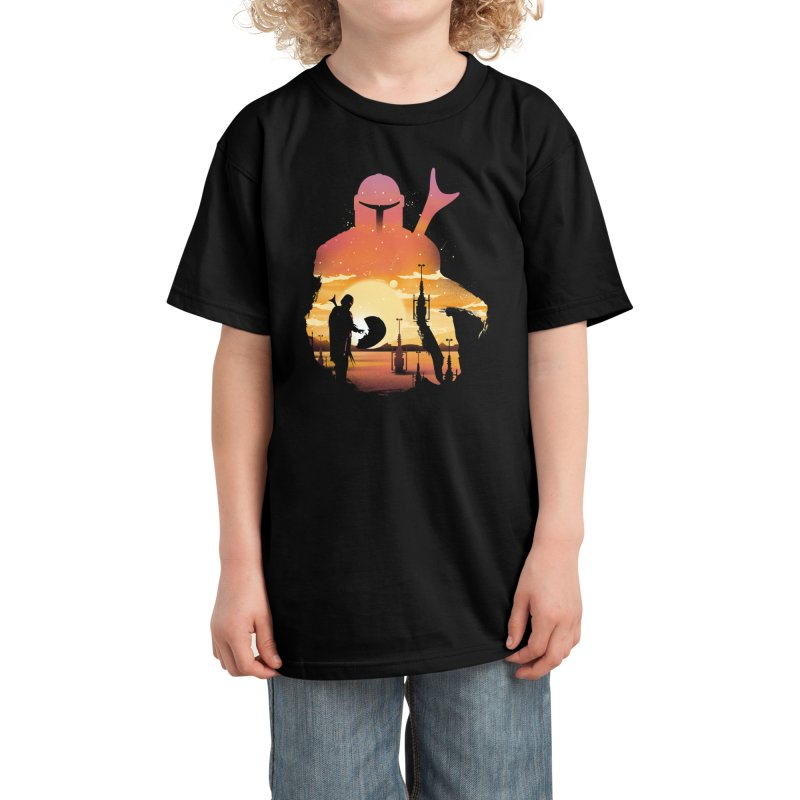 Mando Sunset Kids T-Shirt by dandingeroz's Artist Shop
