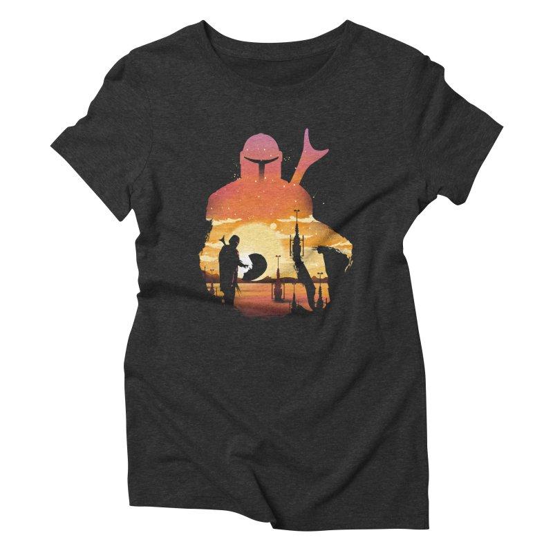 Mando Sunset Women's Triblend T-Shirt by dandingeroz's Artist Shop