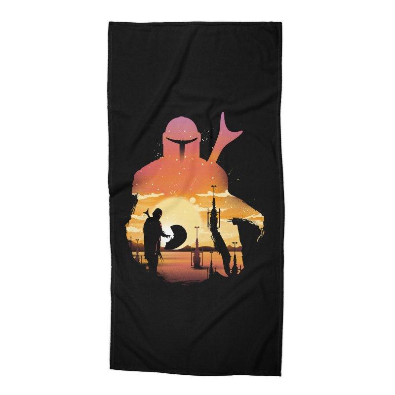 Mando Sunset Accessories Beach Towel by dandingeroz's Artist Shop