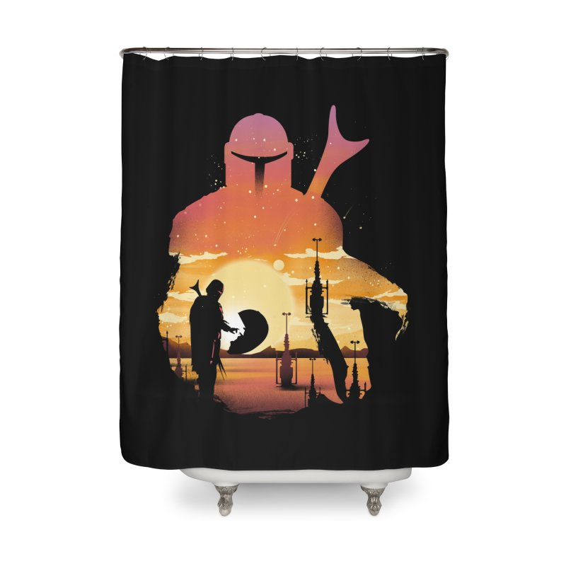 Mando Sunset Home Shower Curtain by dandingeroz's Artist Shop