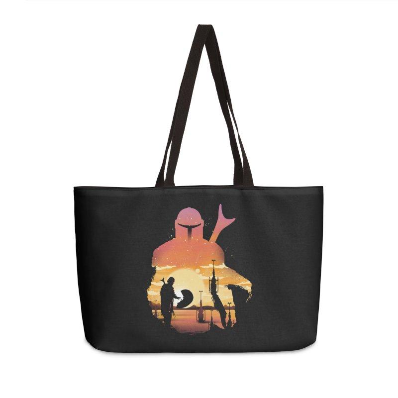 Mando Sunset Accessories Weekender Bag Bag by dandingeroz's Artist Shop