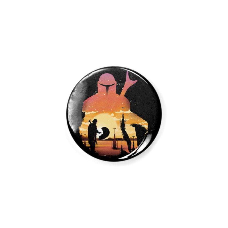 Mando Sunset Accessories Button by dandingeroz's Artist Shop