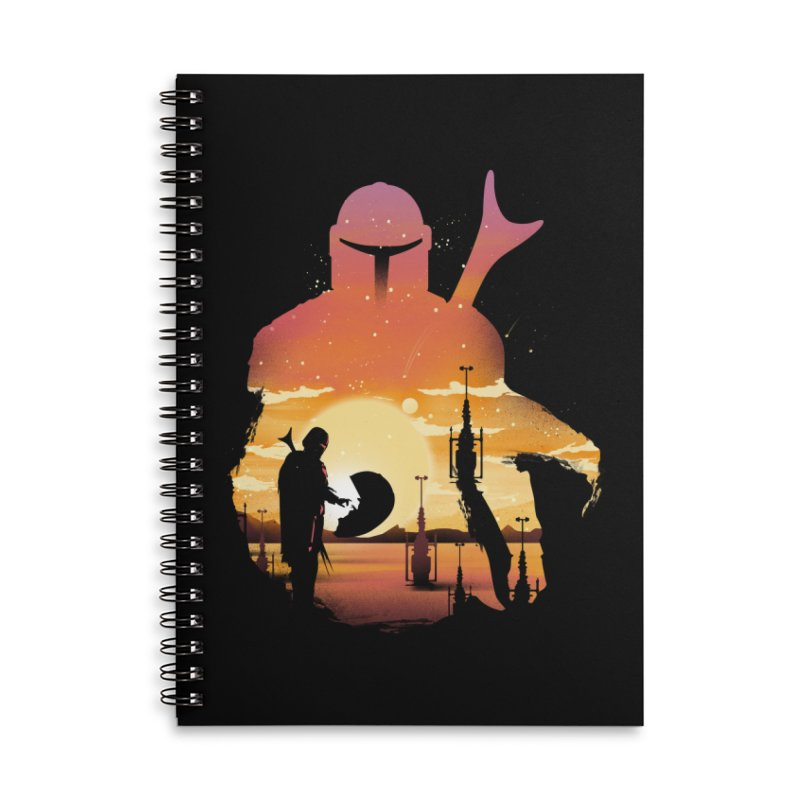 Mando Sunset Accessories Lined Spiral Notebook by dandingeroz's Artist Shop
