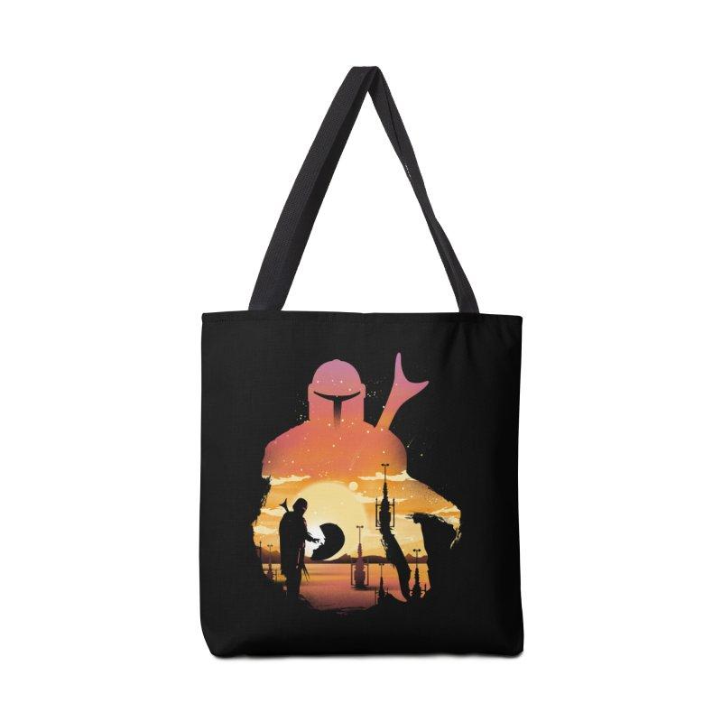 Mando Sunset Accessories Tote Bag Bag by dandingeroz's Artist Shop