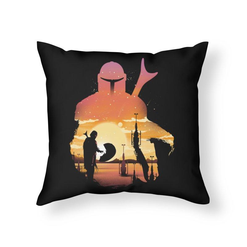 Mando Sunset Home Throw Pillow by dandingeroz's Artist Shop