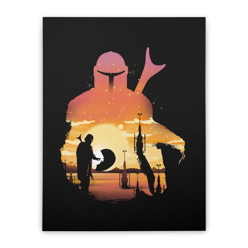 Mando Sunset Home Stretched Canvas by dandingeroz's Artist Shop