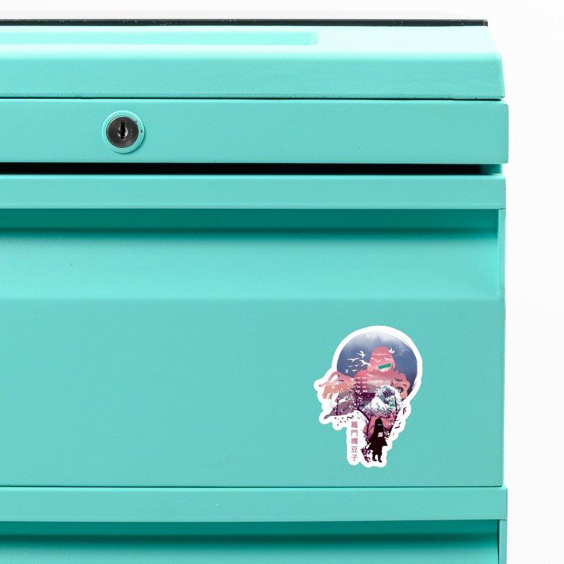 Ukiyo e Nezuko Accessories Magnet by dandingeroz's Artist Shop