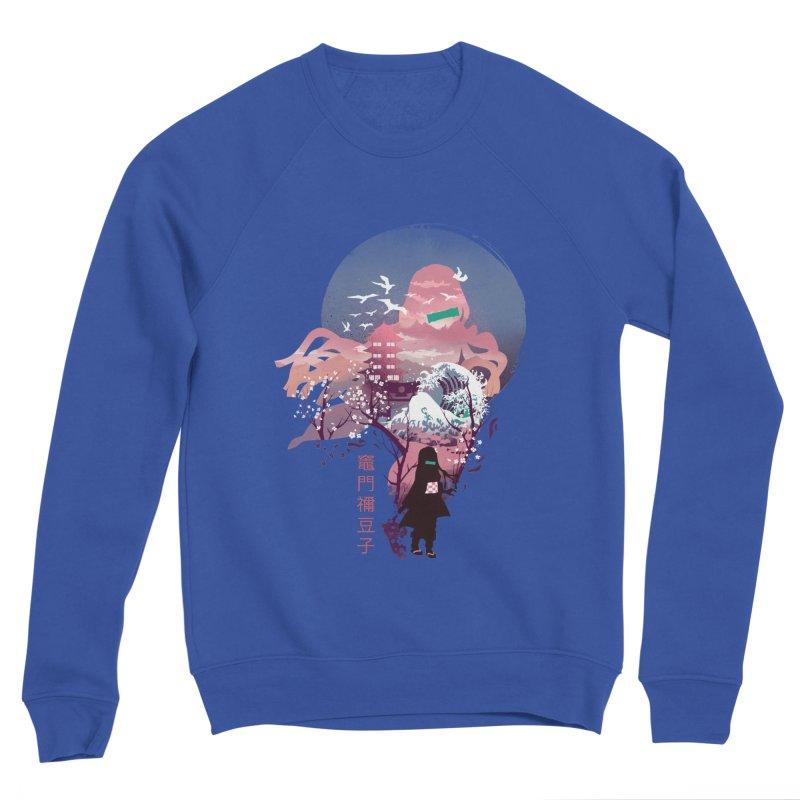 Ukiyo e Nezuko Men's Sponge Fleece Sweatshirt by dandingeroz's Artist Shop