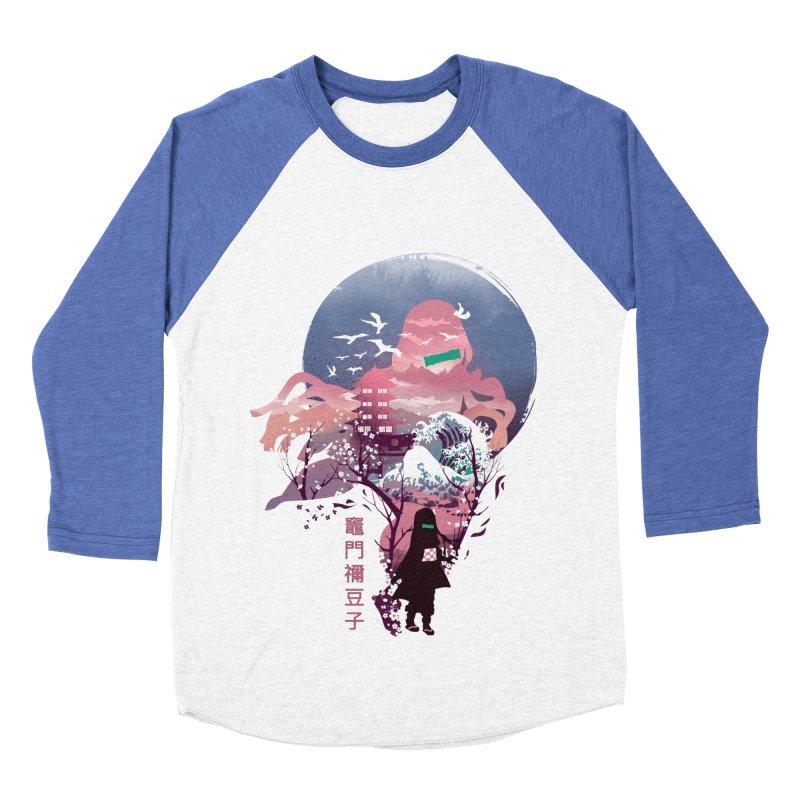 Ukiyo e Nezuko Men's Baseball Triblend Longsleeve T-Shirt by dandingeroz's Artist Shop