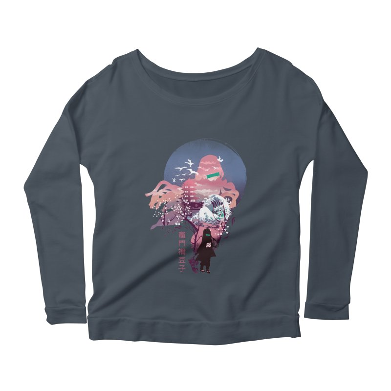Ukiyo e Nezuko Women's Scoop Neck Longsleeve T-Shirt by dandingeroz's Artist Shop